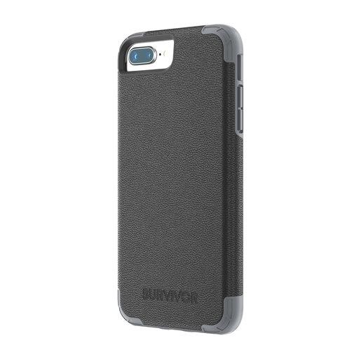 Griffin Survivor Prime Leather Apple iPhone 6 Plus/6S Plus/7 Plus/8 Plus Black